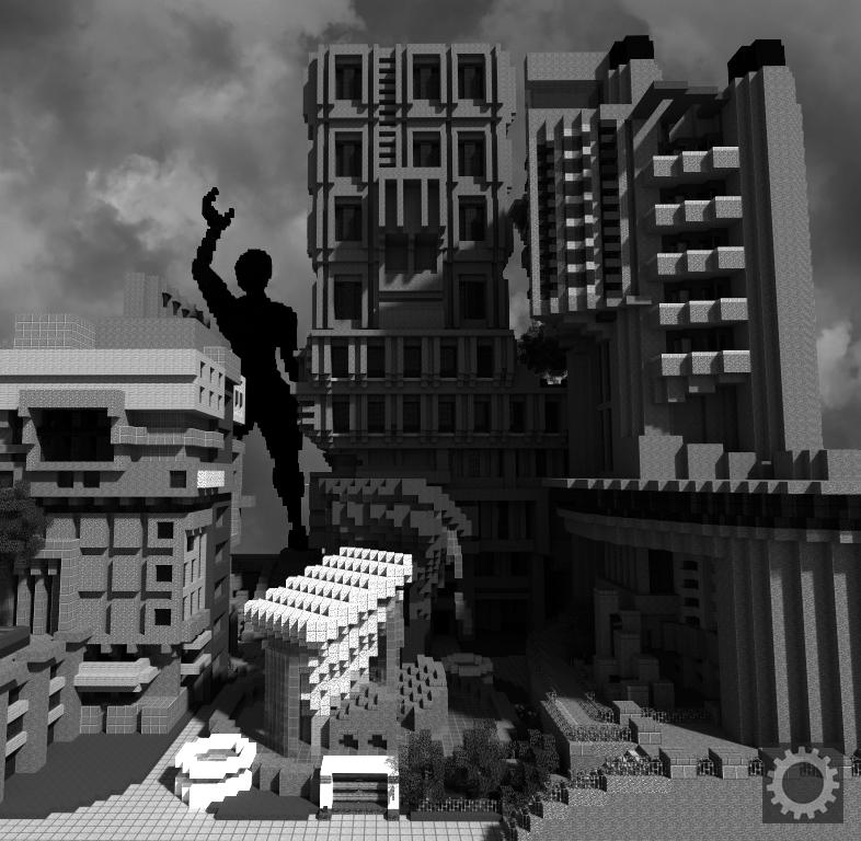 Майнкрафт: архитектурный брутализм. Автор изображения: Kills
