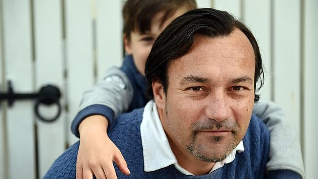 Райен Хеффернан и его семилетний сын