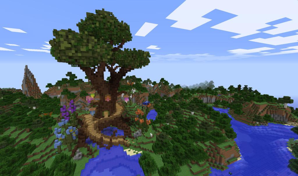 В Realms добавлена карта Treemendous Spawn от VoxelBox