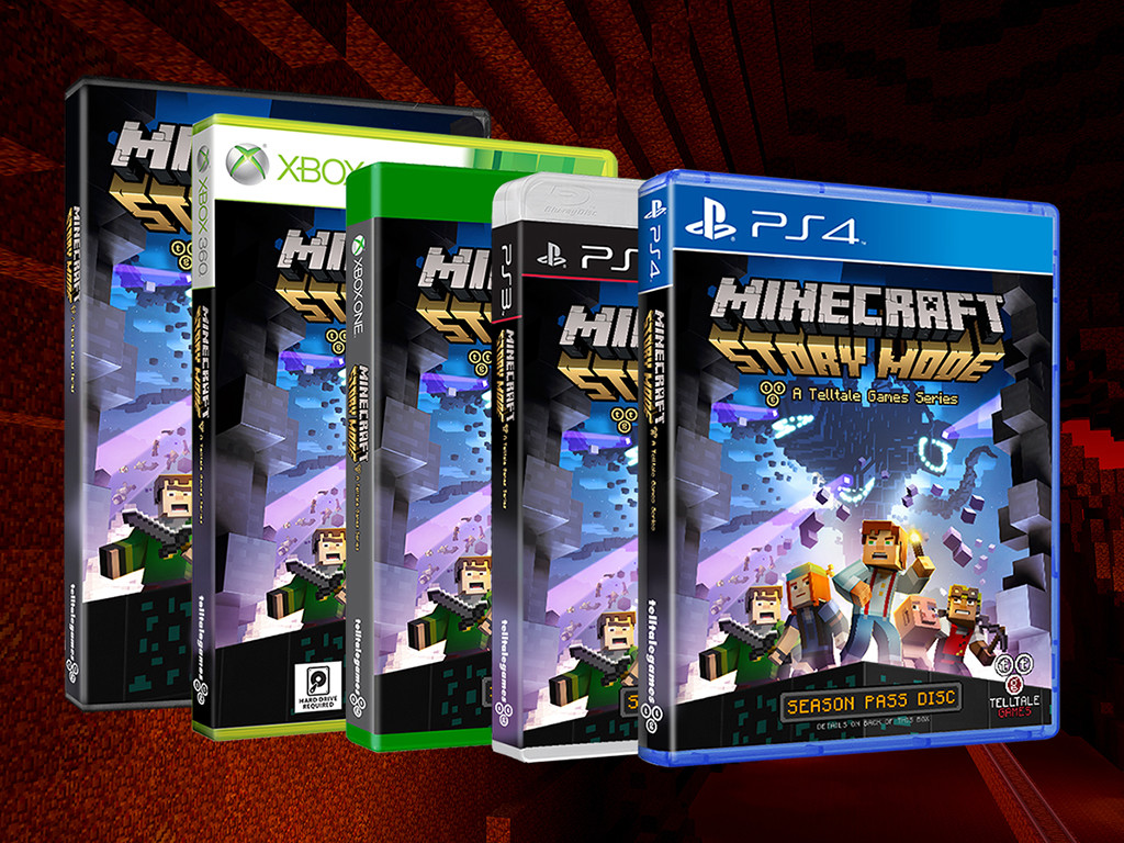 Minecraft-Story-mode-disc-covers