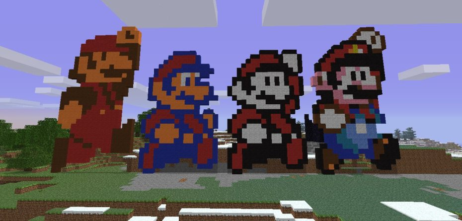 Mario-in-Minecraft