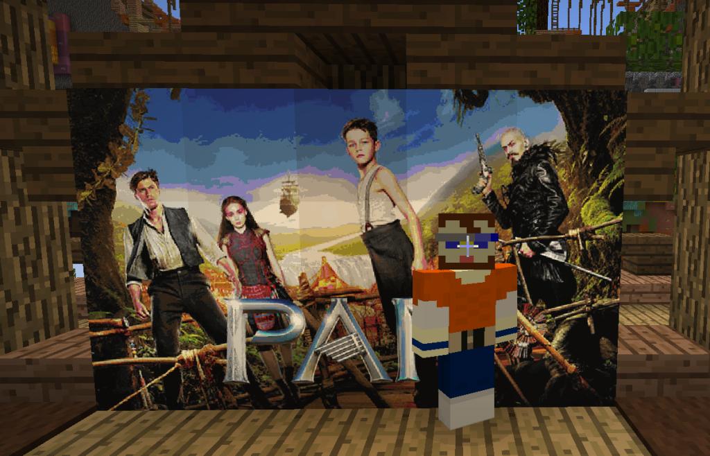 Традиционное фото на фоне кино-афиши