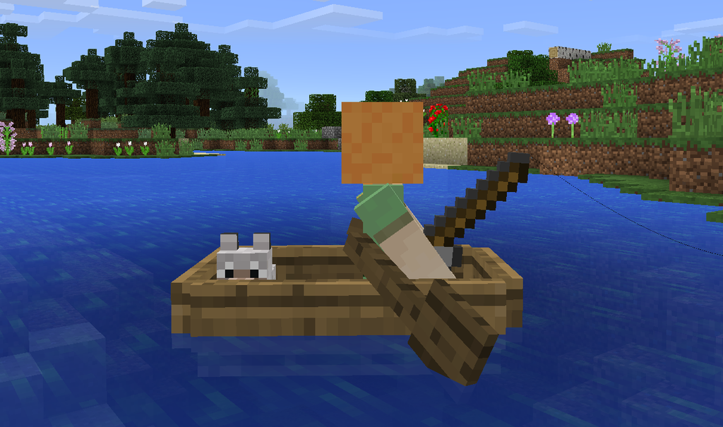 mcpe-boat-wolf