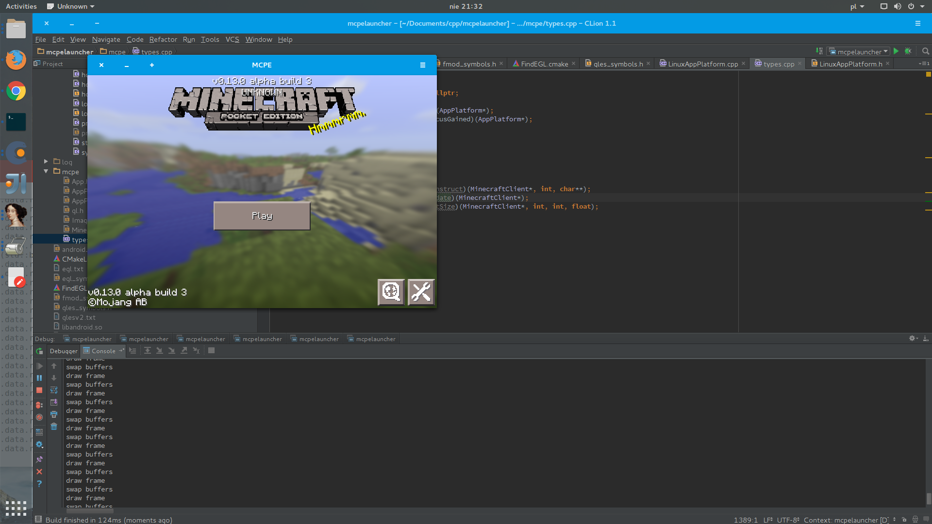 how to run minecraft pe on linux