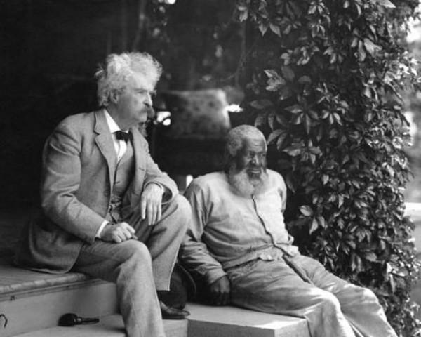 """Марк Твен и Джон Льюис — прототип Джима из """"Приключений Гека Финна""""."""